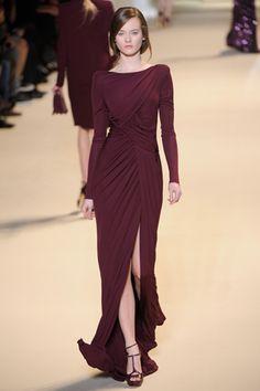 Elie Saab RTW I love Elie Saab flowing dress elegant gown burgundy wine glamour gorgeous must have