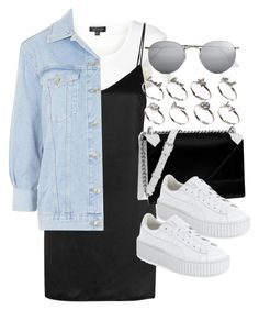 """Style #11284"" by vany-alvarado ❤ liked on Polyvore featuring Topshop, La Perla, Christian Dior, Puma, Ray-Ban and ASOS"