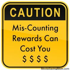 Caution: Counting Rewards can Cost you!  See where the road blocks are.