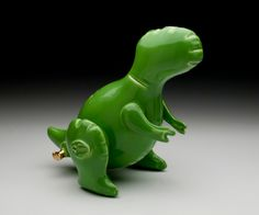 Small T-REX Green by BrettKernArt on Etsy https://www.etsy.com/listing/213368056/small-t-rex-green