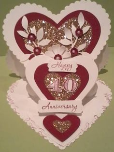 Ruby Wedding by suecake - Cards and Paper Crafts at Splitcoaststampers