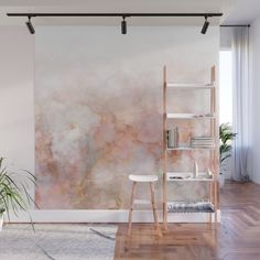 Lovely White and Rose Marble Pattern Wall Mural by Glamour Shop - X Deco Rose, Removable Wall Murals, Bedroom Decor, Wall Decor, Bedroom Murals, Bedroom Office, Marble Wall, White Marble, White Gold