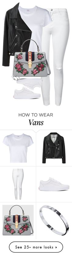 """""""Untitled #1258"""" by lovetaytay on Polyvore featuring Topshop, Vans, RE/DONE, Acne Studios, Gucci and Cartier"""
