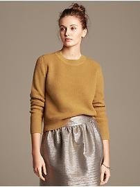 Heritage Textured Crop Pullover