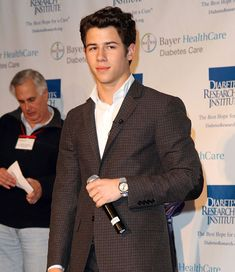 """Nick Jonas was diagnosed with type 1 diabetes in November 2005, and offers this advise to anyone newly diagnosed, """"Don't let it slow you down at all.  I made a promise to myself on the way to the hospital that I wouldn't let this thing slow me down and I'd just keep moving forward, and that's what I did. Just keep a positive attitude and keep moving forward with it. Don't be discouraged"""