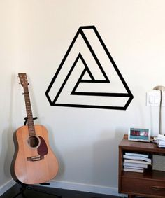 Geometric Impossible Triangle - Mid Century Modern Decals - Triangles - Abstract Wall Sticker