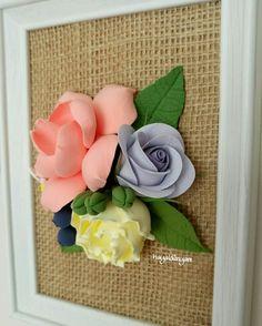 Artclay flowers,decoclay,decoclaycraft, 3 boyutlu çiçekli pano,çerçeve,sanatkilinden elemeği çiçekler