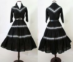 1950's Patsy Cline Western Patio Dress Vintage Squaw Dress Rockabilly VLV Size-Medium