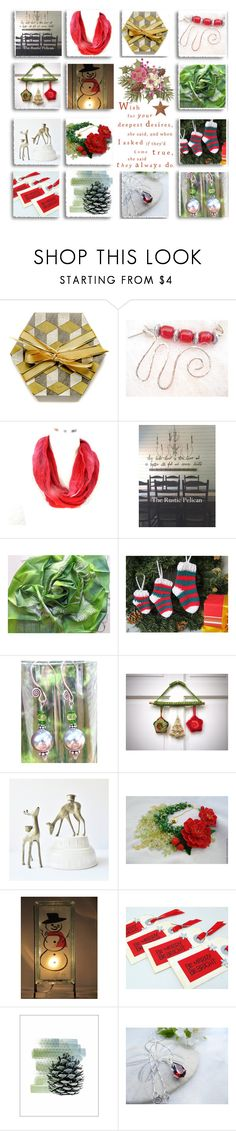 """""""Festive on Etsy"""" by belladonnasjoy ❤ liked on Polyvore featuring Shishi, modern, rustic and vintage"""