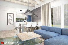 Kos III. Dom parterowy ze strychem i antresolą, z dużą kotłownią - Studio Atrium