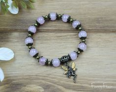 Rose Quartz Fairy Bracelet for Self-Love and Romance by FaeryFlair