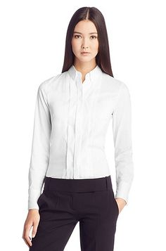 another fabulous white shirt. corporate fashion. CORMONY.