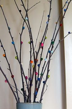 DIY Felted Branches - pretty decoration!