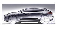 Porsche Macan Design Sketch