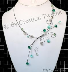 Unique wedding jewelry,funky and cool jewelry design by creationtwinne Wedding Favours Bridesmaids, Bridesmaid Gifts, Unique Jewelry, Jewelry Design, Diy Jewelry, Prom Necklaces, Teal Necklace, Aqua, Necklace Designs