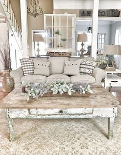 Living Room Farmhouse Style Decorating Ideas 37