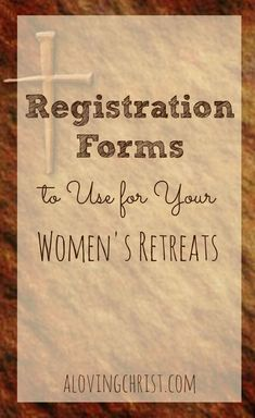 Use this retreat registration form for your next women's retreat. Printable and online sample forms are available to help you streamline the process.