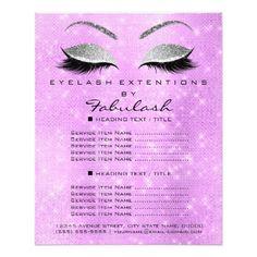 Makeup Artist Beauty Salon Silver Glitter Lavanda6 Flyer - glitter gifts personalize gift ideas unique