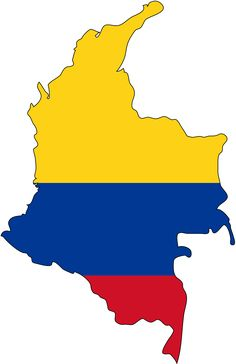 Colombia Map & Flag Colors