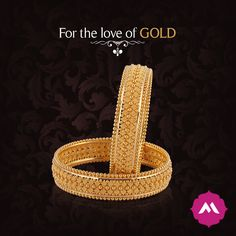 These gold bangles with meticulous designs to take everyone's breath away. <3