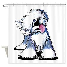Curious OES Shower Curtain on CafePress.com