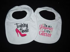 Adorable Saying Boutique Style Bibs  Custom Infant by soohomemade, $16.00