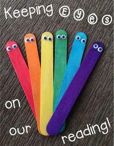 Terri's Teaching Treasures: Bright Idea #3 - Using Your Eyes While Reading