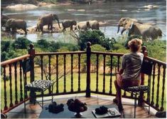 Buhala Game Lodge on the edge of Crocodile River, Kruger National Park, South Africa