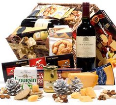 Premium Wine and Cheese Basket to Czech-Republic