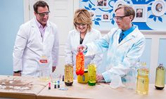 Home & Family - Tips & Products - Science Bob's At-Home Experiments | Hallmark Channel home made lava lamp experiment with water, vege oil, food coloring, and 3 alka seltzer tabs!