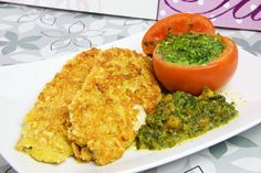 Fischfilet in Parmesan-Mandel-Kruste Low Carb
