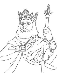 david on the throne coloring pages | King David and Nathan coloring page | Tell THE Story for ...