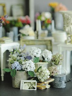 miniature* Flower あじさい : natural色の生活~handmade家具