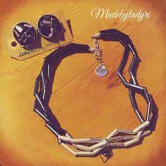 Collana e orecchini #bijouxfattiamano #madebyladyri