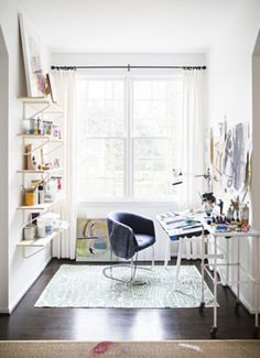 You can get creative in a small space. Just add a few shelves!