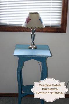 How I used crackle paint to refinish a table