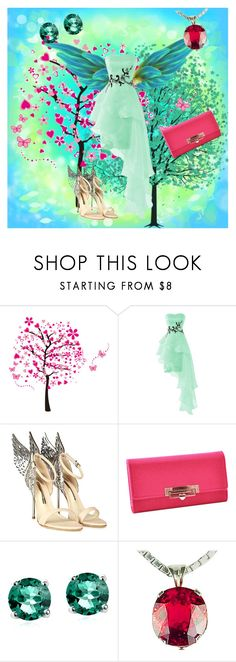 """""""Fairy 🧚 wings"""" by ingrid-zhou ❤ liked on Polyvore featuring Sophia Webster, Glitzy Rocks and Gemjunky"""