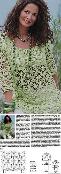 Fabulous Crochet a Little Black Crochet Dress Ideas. Georgeous Crochet a Little Black Crochet Dress Ideas. Beau Crochet, Pull Crochet, Mode Crochet, Crochet Baby, Crochet Top, Crochet Tunic Pattern, Crochet Jacket, Crochet Blouse, Crochet Patterns