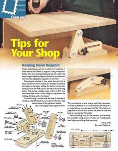 Helping Hand Support - Furniture Assembly Tips, Jigs and Techniques | http://WoodArchivist.com
