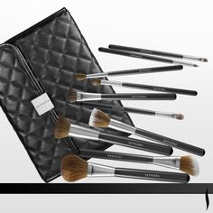 Score the ultimate in luxury makeup brushes with these high-quality essentials—all wrapped up in a beautiful, quilted pouch. #SEPHORA COLLECTION Prestige Luxe Brush Set #BrushingUp