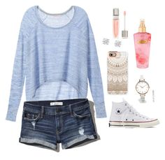 """""""Cozy"""" by cibeleurbanski ❤ liked on Polyvore featuring Victoria's Secret, Abercrombie & Fitch, Converse, Casetify, ASOS Curve and Lancôme"""