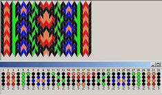 """Простейшие цветные схемы для ткачества на дощечках Simple pattern """"Roses and forget-me-nots"""""""