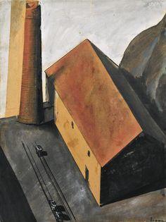MARIO SIRONI Periferia con Ciminiera (1924)