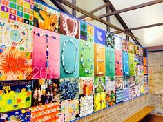 A Values Education wall to be proud of. Sydney Primary school Wellbeing project for school hall. School Hall, Values Education, Learning Environments, Primary School, Social Skills, School Design, School Projects, Foundation, Childhood
