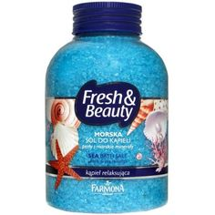 Farmona Fresh & Beauty Sea Bath Salt by Farmona. $9.99. Sea breeze, pearls, sea minerals Experience the secret of freshness and beauty! Enjoy the fluffy foam and beautiful, healthy skin!   An aromatic bath salt of a relaxing, fresh scent of the sea breeze excellently washes, provides skin care and wonderful freshness and relaxation.  The bath immediately refreshes and moisturizes the body, relieves  stress and tiredness, relaxes and brings an excellent mood. In add...