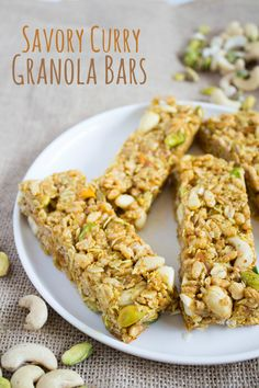 Savory Curry Granola Bars make a healthy, easy snack that is unexpectedly savory! | easy snack idea | healthy snack recipe | granola bar recipe | no bake granola bars |