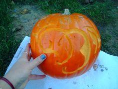 Dynia na konkurs Halloweenowy By Dziubeka. Oczywiście przepiękne logo By Dziubeka ;).