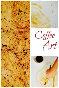 You can use so many everyday items to make art. Don't forget about coffee! It makes a gorgeous brown.