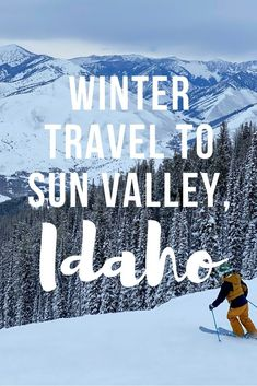 There are so many reasons why you should choose Sun Valley for your ski vacation this year - great restaurants, loads of runs over two mountains, stunning scenery - but the best thing about Sun Valley is that despite offering everything that a lot of the more well-known ski resorts have, it doesn't have the crowds. Find out more about winter travel to Sun Valley, Idaho. | Camels & Chocolate #idaho #sunvalley #winter #skitrip #wintervacation