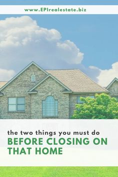 There is much to consider when purchasing a home. Don't allow your emotions to get the best of you, do your research and that home may just turn out to be one of the best investments you'll make. Find out more at: www.EPIrealestate.biz.